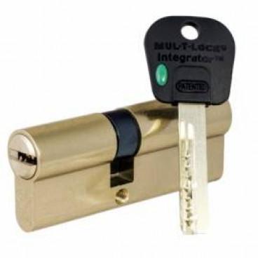 Цилиндровый механизм Mul-T-Lock Integrator 80mm (40x40) (латунь)